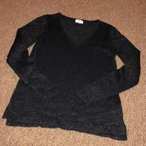 Old Navy Black Sweater with Gold Stitching